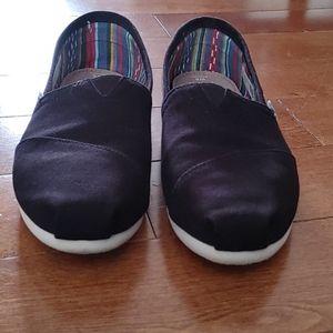 Toms Alpergata Slip-on Black Size 8